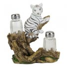 White Tiger Salt and Pepper Shaker