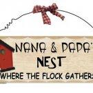 Wooden Plaque Nana & Papa
