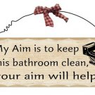 Bathroom Wooden Plaque