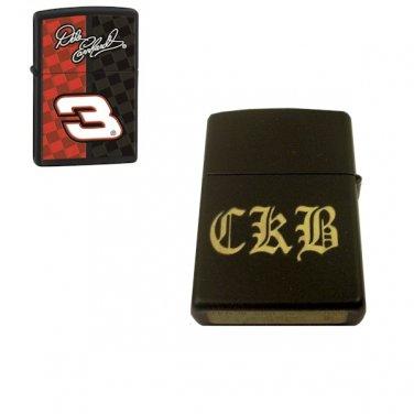 Dale Earnhardt Custom Engraved Zippo Lighter