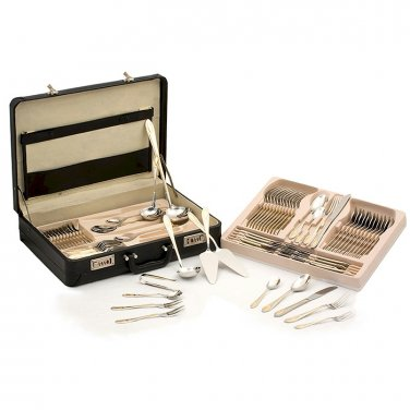 72pc Stainless Flatware, Gold Tone