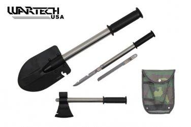 Axe / Shovel / Skinning Knife Saw & case
