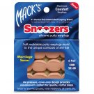 Mack's Pillow Soft Silicone Ear Plugs Snoozers 6 Pair Beige Swimming Snore Noise