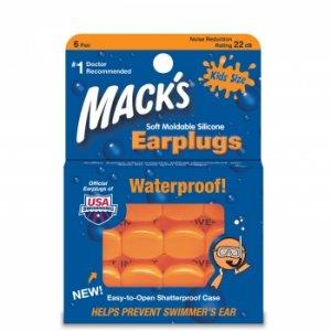 Mack's Moldable Silicone Earplugs Ear Plugs Kid Size 6 Pair Orange