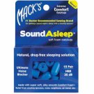Mack's SoundAsleep Soft Foam Ear Plugs Sleep Air Travel Noise 12 Pair Box Blue