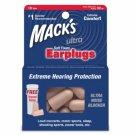 Mack's Ultra Soft Foam Ear Plugs Sleep Study Sports Events 10 Pair Earplugs Case