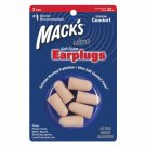 Mack's Ultra Soft Foam Ear Plugs Sleep Travel 3 Pair Earplugs Trial Size Pkg