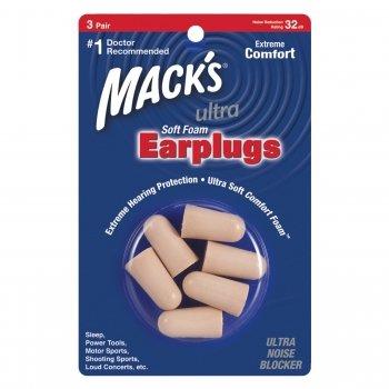 Mack's Ultra Soft Foam Ear Plugs Sleep Travel 3 Pair Earplugs Trial Size Pkg
