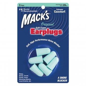 Mack's Original Soft Foam Ear Plugs 3 Pair Trial Earplugs Sleep Study Travel