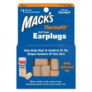 Mack's ThermaFit Soft Foam Ear Plugs 10 Pair