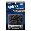 Mack's Blackout Soft Foam Shooters Earplugs 7 Pair Covert Ops Ear Plugs Case