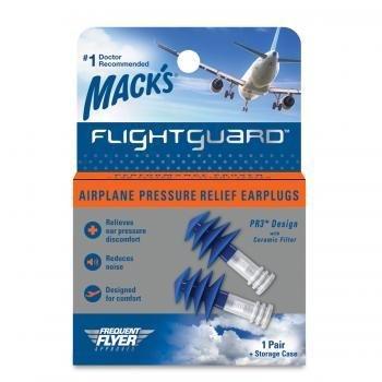 Mack's Flightguard Airplane Earplugs Ear Plugs Pressure Relief