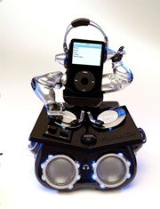 KNG AMERICA FUNKIT DJ ANIMATED IPOD SPEAKER SYSTEM (Black)