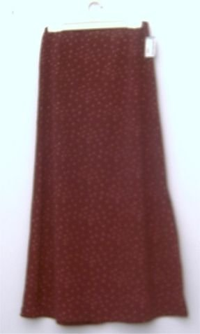 "Burgundy long skirt size 7 from ""SIMMONS"" BOUTIQUE"