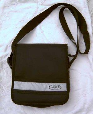 Black nylon sport purse handbag for girl teen or women