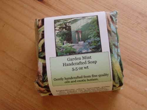 Garden Mint Handmade Soap, 5.5 oz wt
