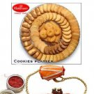 Haldirams Cookies Platter- Fresh and Mixed Assorted Eggless Cookies in a Fancy Tray  + Rakhi Kit