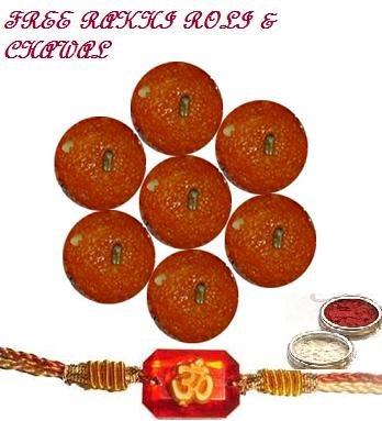 Haldirams Moti Choor Ladoo  + Rakhi Kit