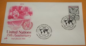 35th Anniversary of the United Nations 1980 First Day Cover (FDC)