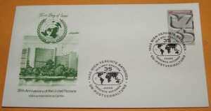 The 35th Anniversary of the United Nations FDC
