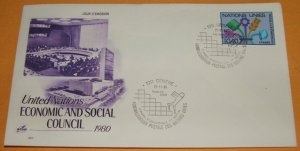 United Nations Economic Social Council 1980, First Day Cover