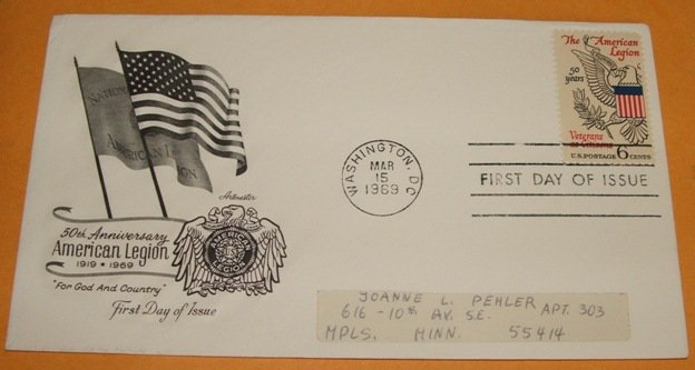 50th Anniversary of the American Legion First Day Cover