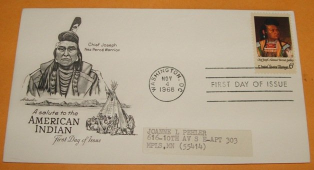 A Salute to the American Indian First Day Cover (FDC)