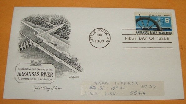 Arkansas River Navigation First Day Cover 1968 (FDC)