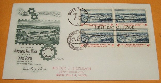 The First Automated Post Office in the United States First Day Cover (FDC)