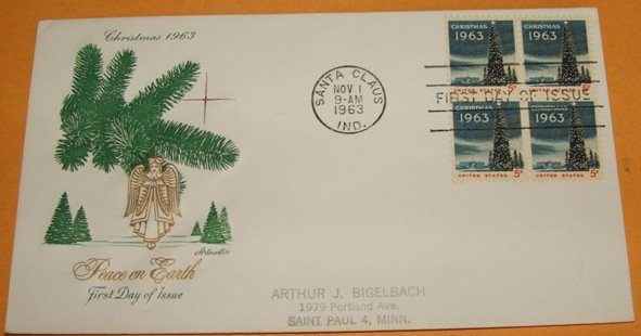 Christmas 1963 First Day Cover (FDC)