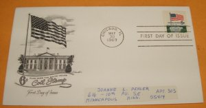 United States Flag Over the White House First Day Cover (FDC)