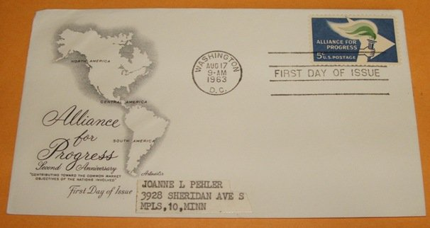 Alliance For Progress First Day Cover (FDC)