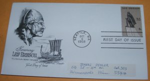 Honoring Leif Erikson First Day Cover (FDC)
