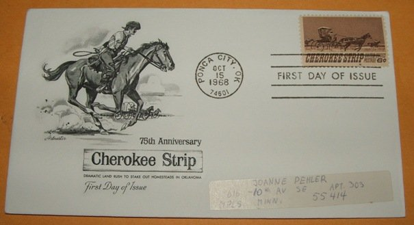 75th Anniversary Cherokee Strip First Day Cover (FDC)