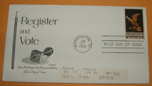Register and Vote First Day Cover (FDC)