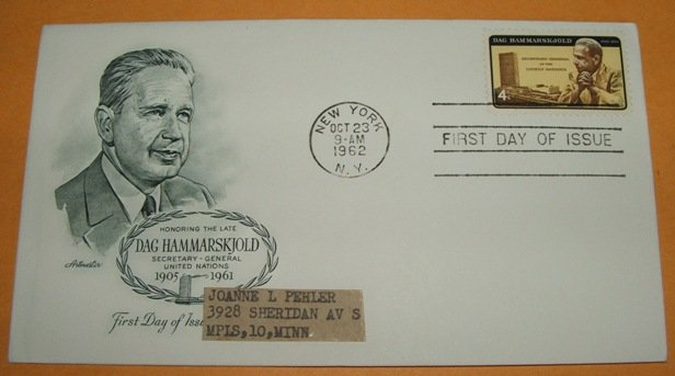 Dag Hammarskjold Secretary General of the United Nations First Day Cover (FDC)