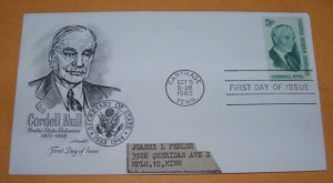 Cordell Hull United States Statesman First Day Cover (FDC)