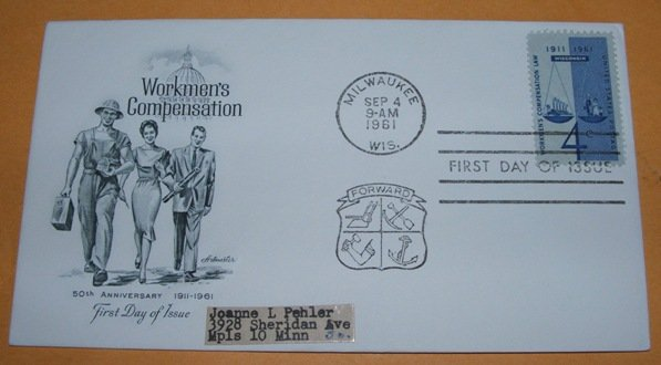 Workmen's Compensation First Day Cover (FDC)