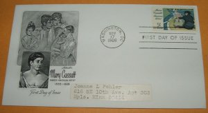Mary Cassatt Famous American Artitst First Day Cover (FDC)