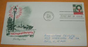 Christmas 1962 First Day Cover (FDC)