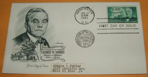 George W. Norris Senator of Nebraska First Day Cover (FDC)