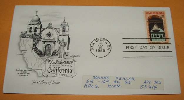 200th Anniversary of the Settlement of California First Day Cover (FDC)