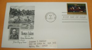 Thomas Eakins Famous American Artist First Day Cover (FDC)