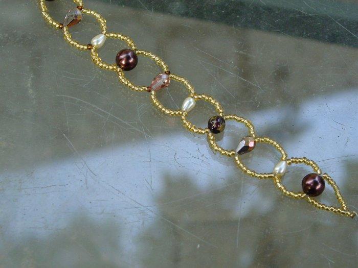 Handcrafted circle link bracelet