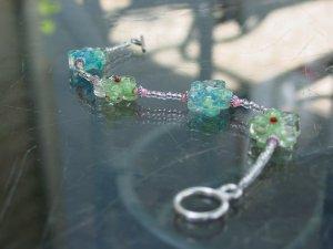 Handcrafted flower bracelet