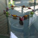 Handcrafted glass art necklace