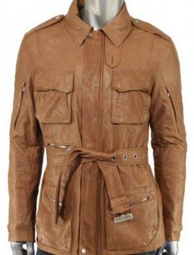Men Brown Biker Leather Jacket