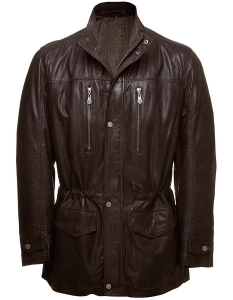 Men's Casual Dark Brown Leather Jacket