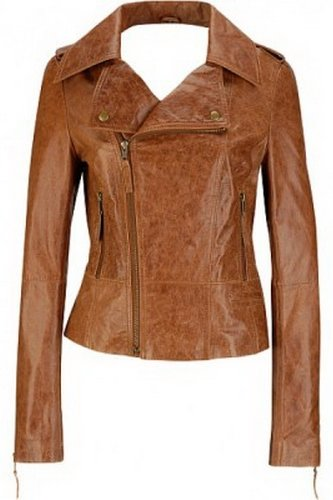 Womens Tan Antique Leather Jacket