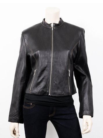 Women Short Trendy Leather Jacket
